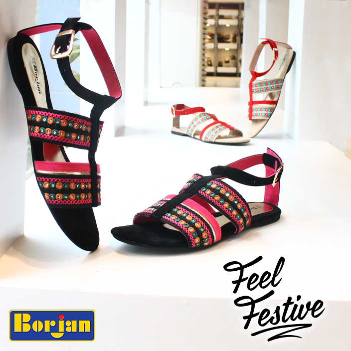 Embroidered Sandal By Borjan For Eid 2016