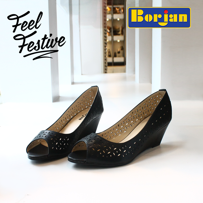 Formal Black Shoes By Borjan For Eid 2016