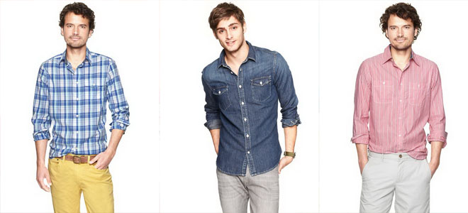 Gap Spring-Summer Casual Shirts For Men 2014-15