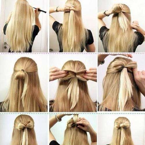 Bow style Eid Hairstyle Tutorial 2016