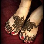 pakistani floral feet mehndi design for eid