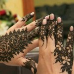 black mehndi design for eid ul fitr