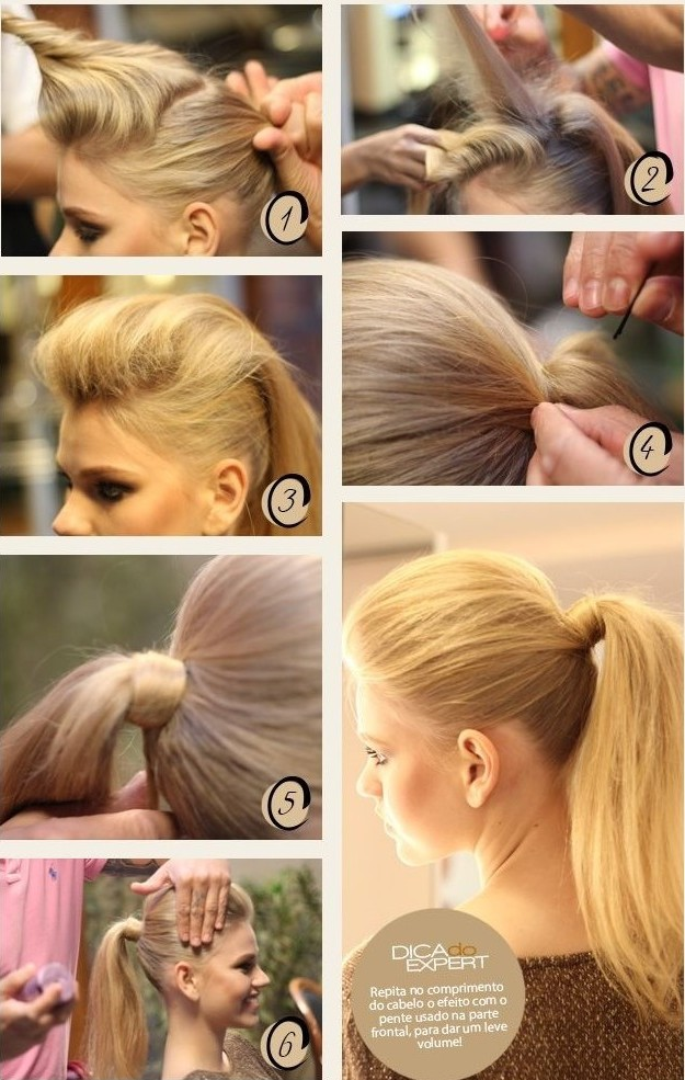 Easy Ponytail Hairstyle For Eid 2016