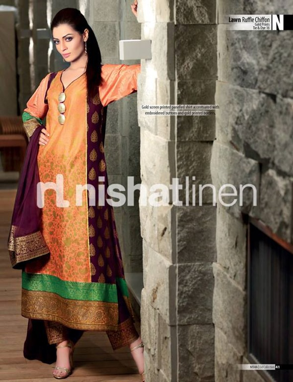 Nishat-Lawn-Ruffle-Chiffon-Eid-Collection-2013-15