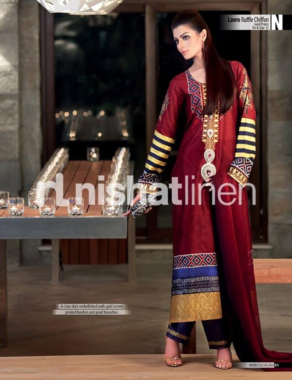 Nishat-Lawn-Ruffle-Chiffon-Eid-Collection-2013-5