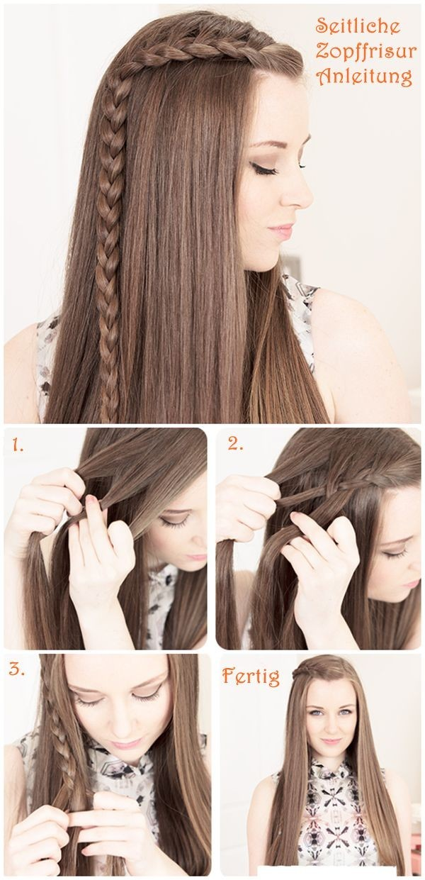 Simple Front Braid Hair Tutorial For Eid 2016