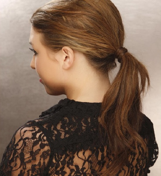 Ponytail - Back View