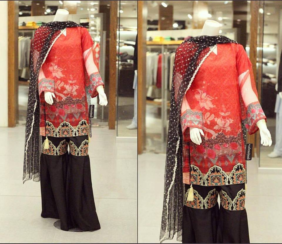 Stunning party wear dress for winter by zahra ahmad