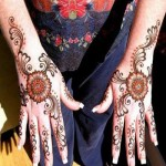 floral bail style indian mehndi design