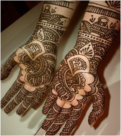 indian arabic henna design for hands