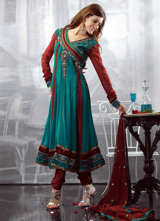 Latest Angrakha Style Frock for Party Wear