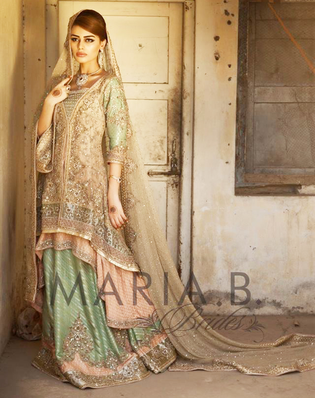 maria b walima dress for wedding brides