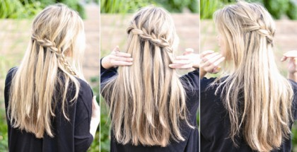 The Super Easy Waterfall Braid - Step By Step Hairstyle Tutorial