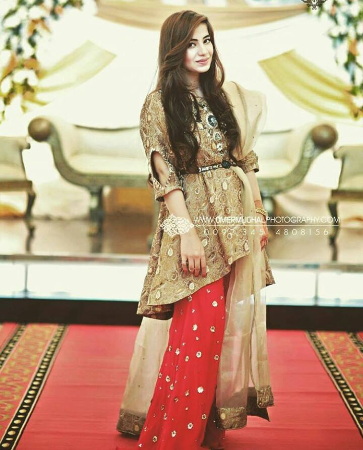 Wedding Wear Short Frock with Straight Trouser