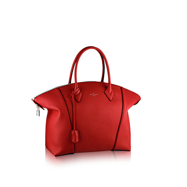 Red handbag by louis vuitton