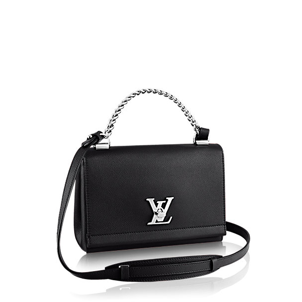 Black leather bag by louis vuitton latest collection