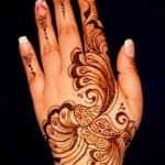 shaded mehndi design for back hand