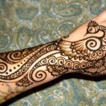peacock mehndi design for hand and arm