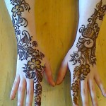 eid shaded mehndi design for hands