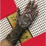 indian peacock mehndi design for brides