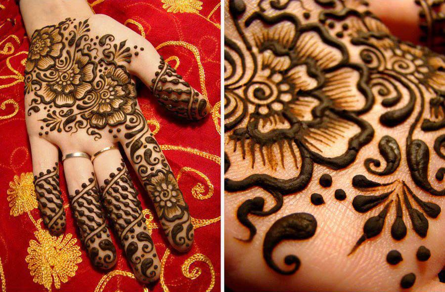Double Shaded Bridal Henna Design