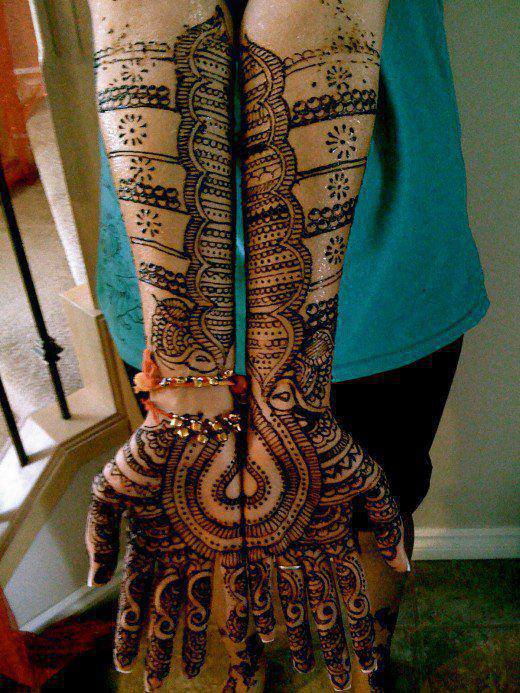 Joint Hands Bridal Mehndi Design