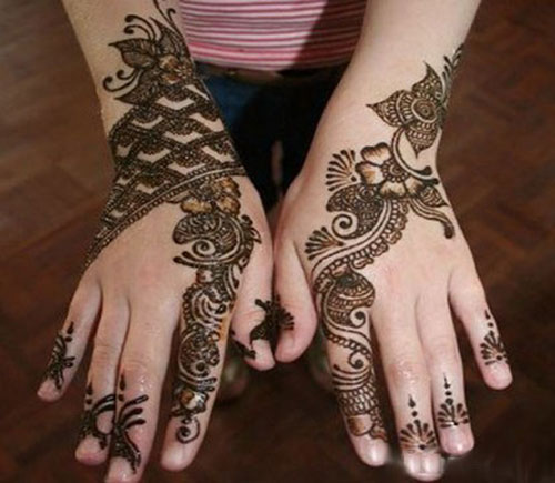Simple Bridal Geometric Mehndi Design