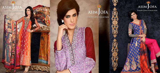 asim jofa luxury lawn collection 2014-2015