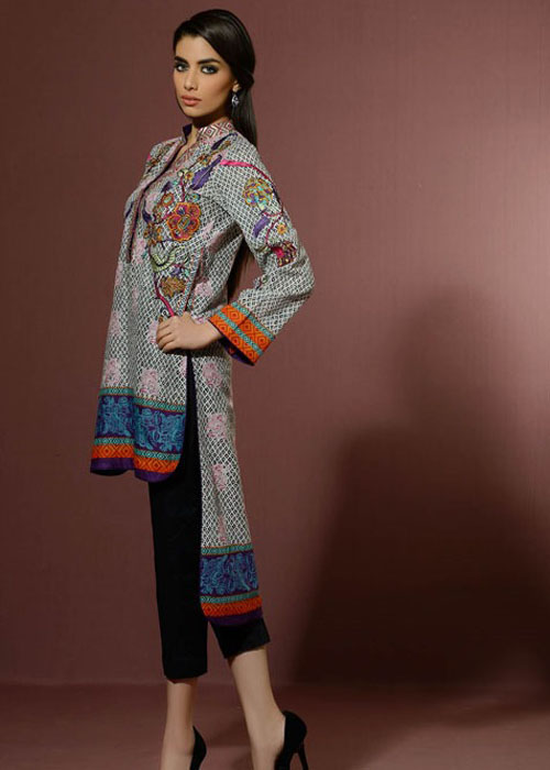 Back Long Shirt By Alkaram Studio For Eid 2016
