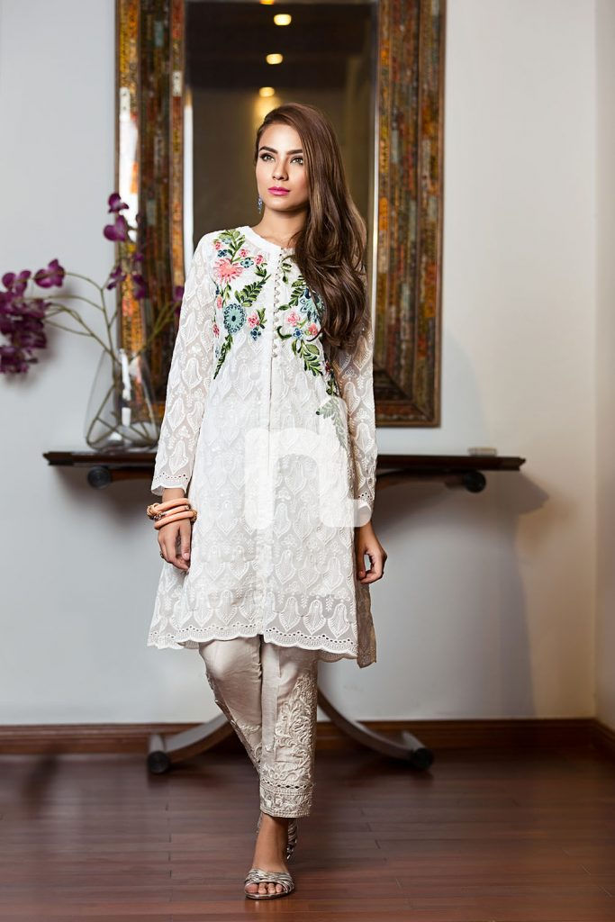 Neckline Embroidered Nishat Linen Luxury Formal 2017