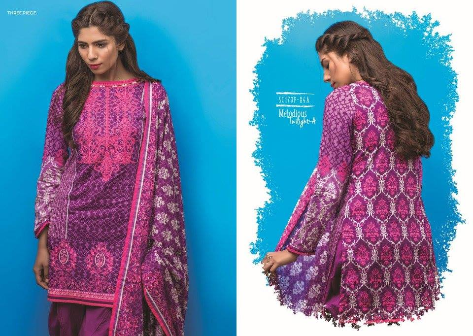 Electric Purple Carrot Pink Satrangi Collection 2017