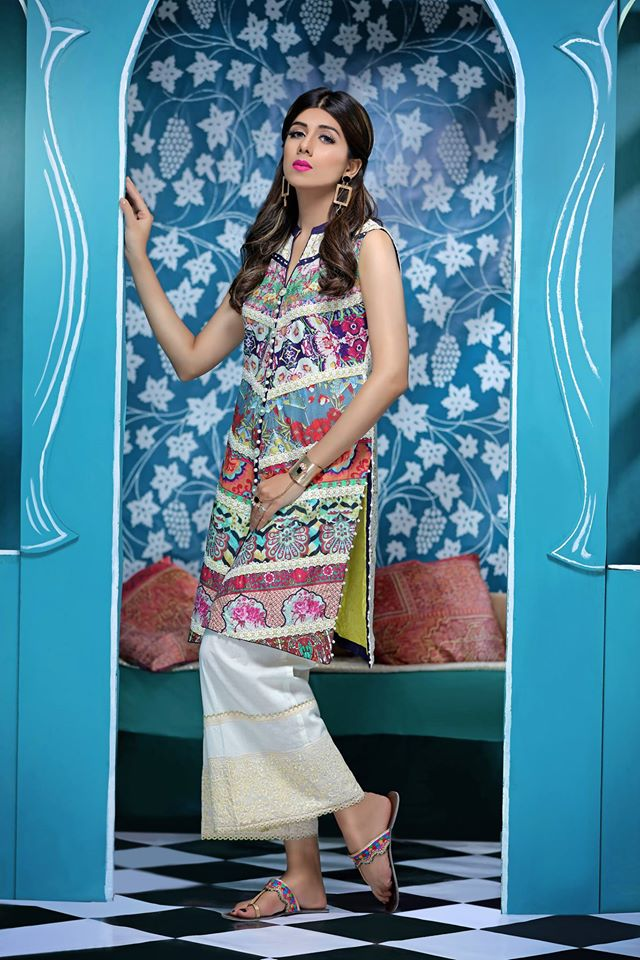 Pearl Embellished Eid Outfit By Zahra Ahmad 2017