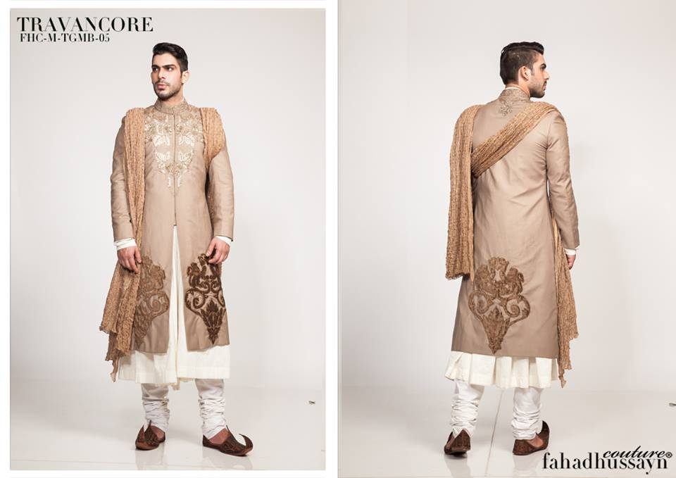 Fahad Hussayn Latest Sherwani Suits for Men