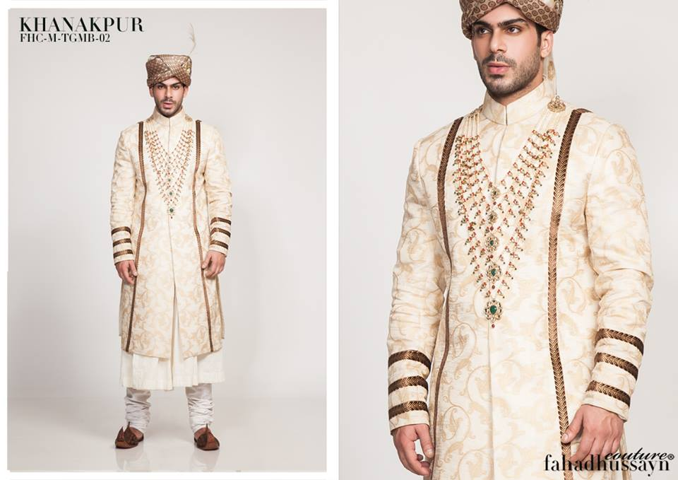 Groom Sherwani with Kula by Fahad Hussayn