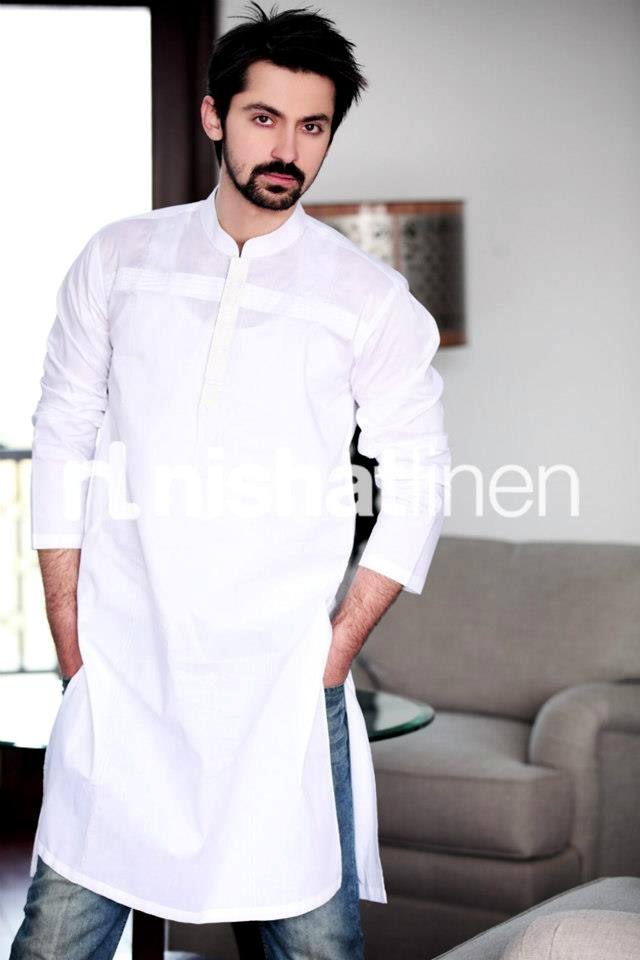 White Kurta for men By nishat