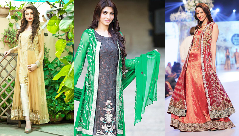 Pakistani Party and Wedding Wear Gown Dresses 2017