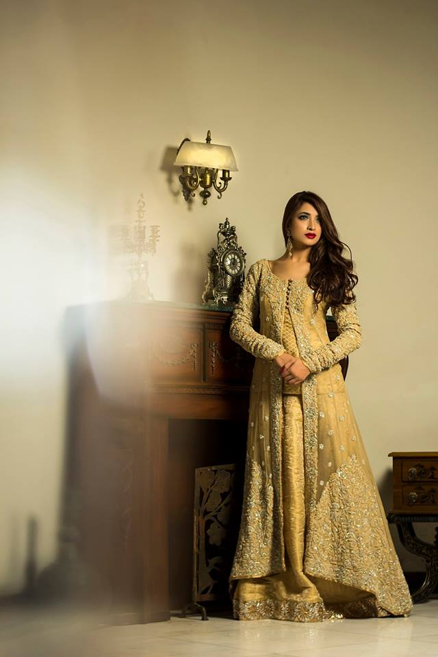 Dull Gold fancy wedding gown