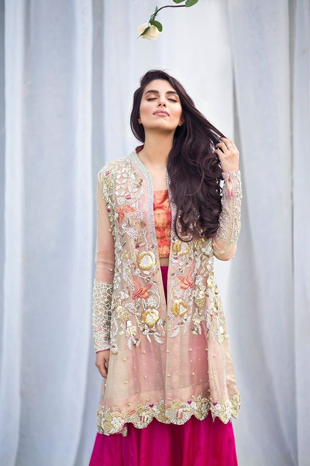 Bridal gown with lehenga for walima 2016