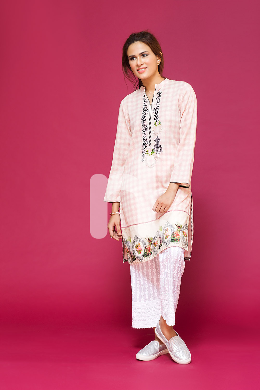 Classic White pret wear for winters by nishat