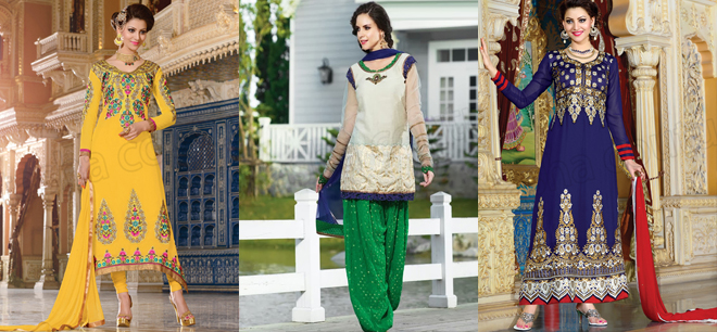 Natasha Couture Best Exclusive Indian Shalwar Suits For Women 2015