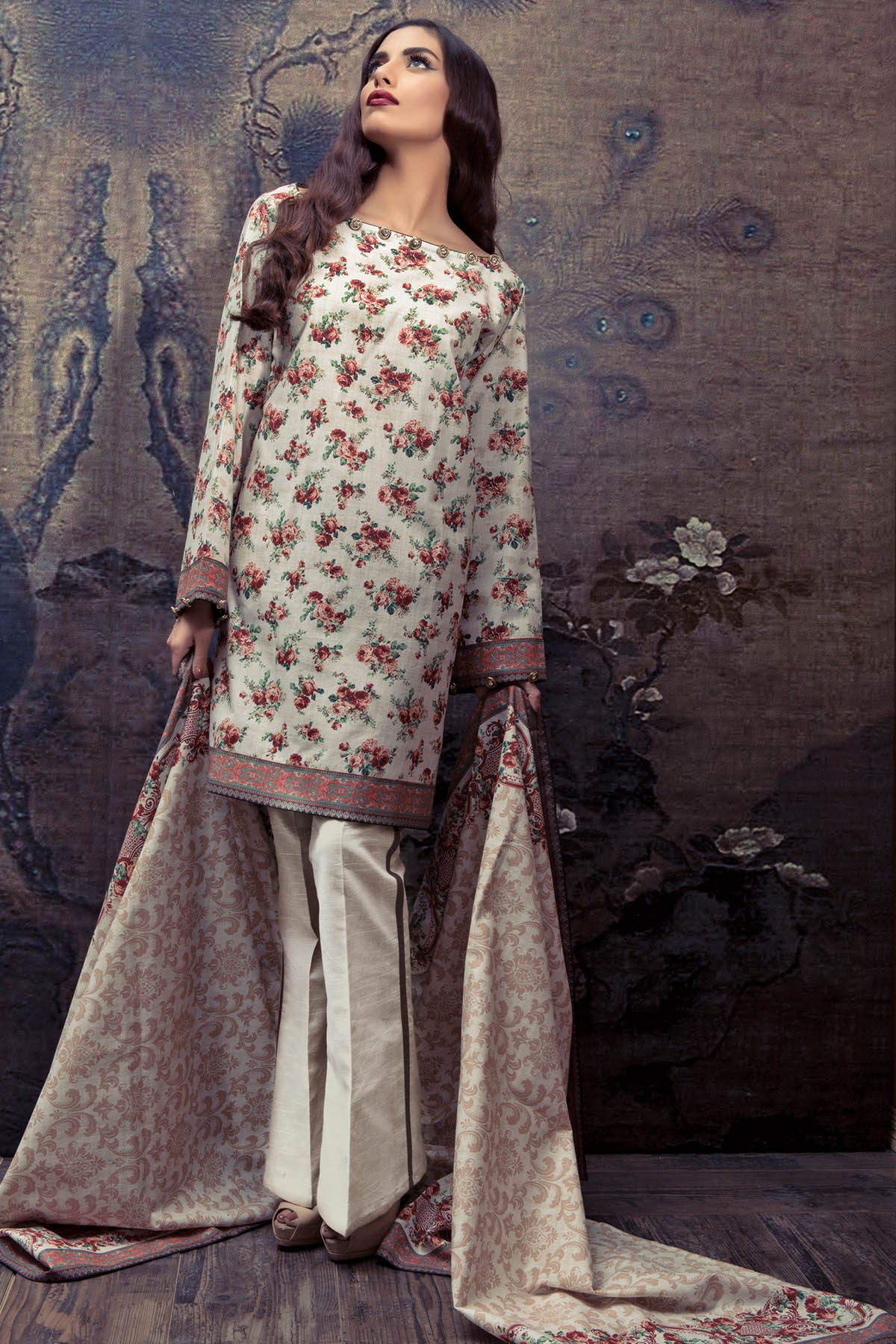 Warda spring summer collection 2016 vol 1 with prices beststylo com - Floral Printed Suit By Al Karam For Fall