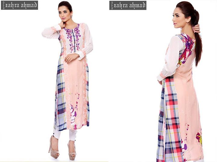 Pink casual wear winter outfit by zahra ahmad