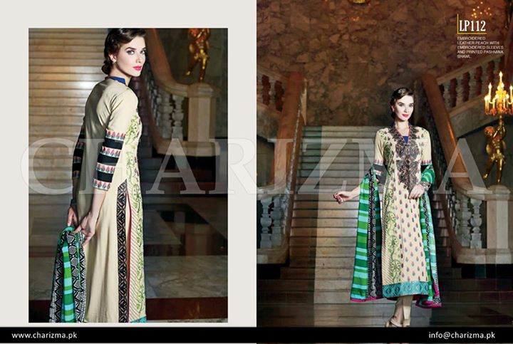 Offwhite and green suit for fall by charizma vol 3