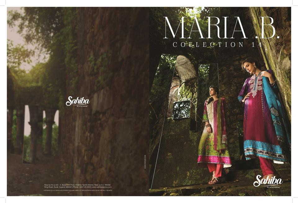 Bright indian pashmina dresses by maria b
