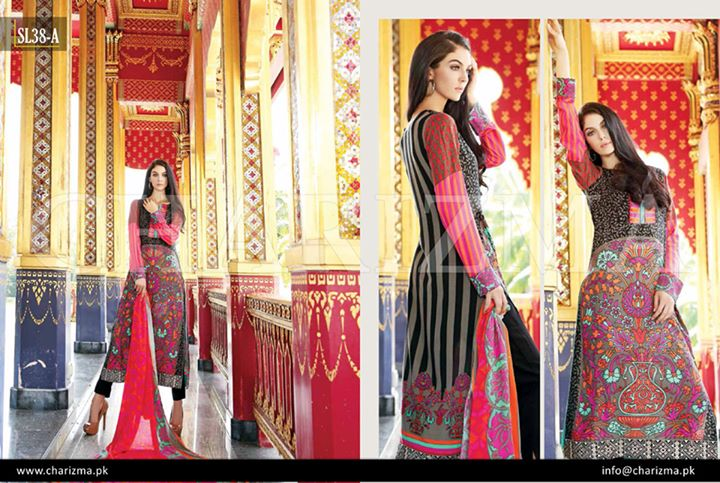 bright patterned dress by charizma vol 3 for winters
