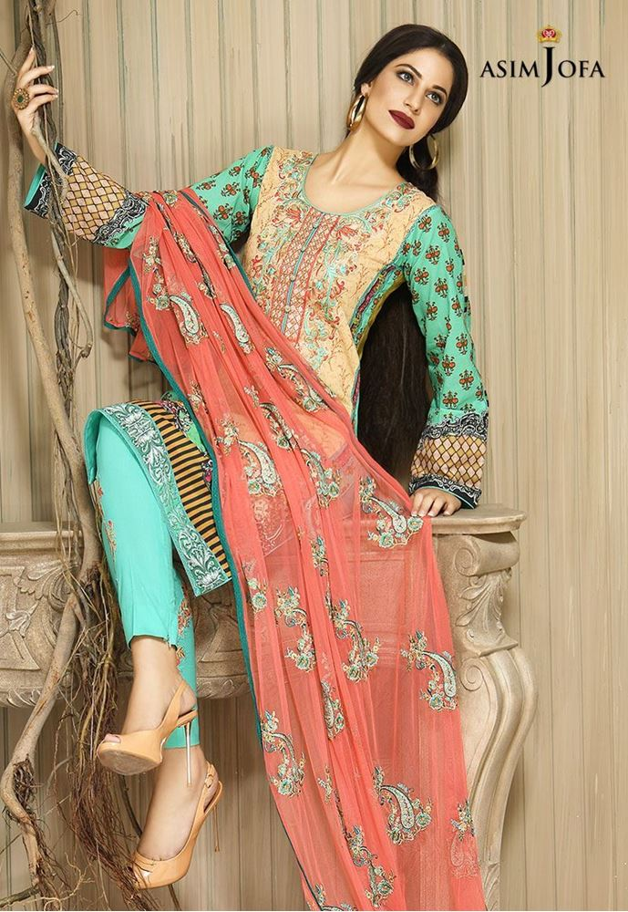 Asim jofa winter embroidered collection 2017