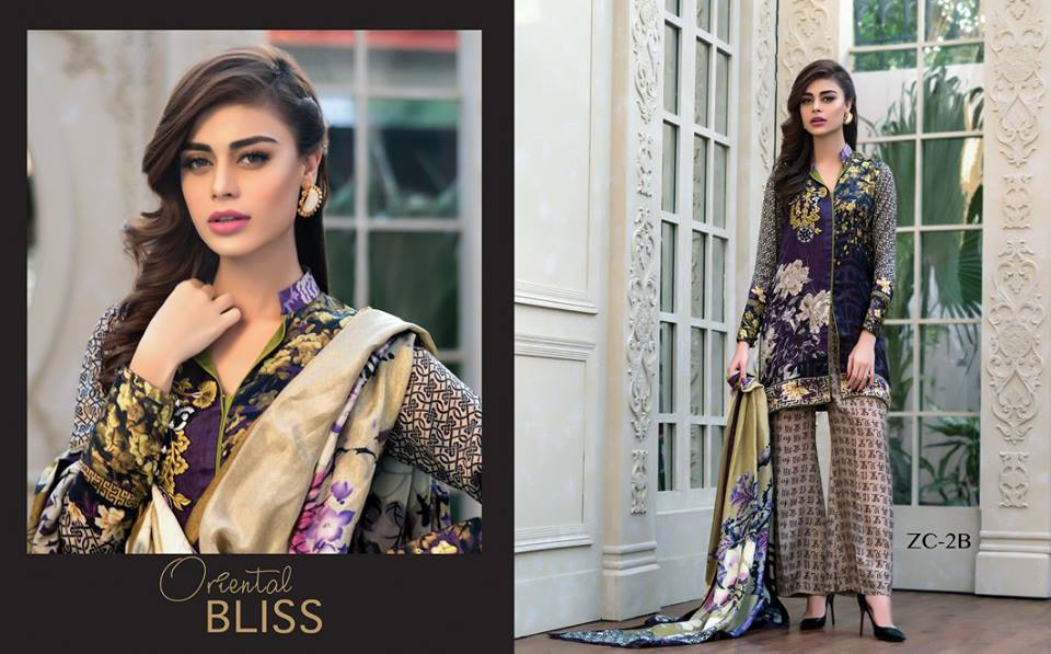 Purple dress by zainab chottani from silk winter collection