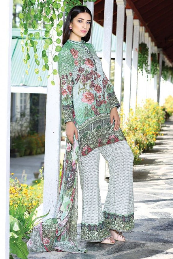 Mint Green party dress by motifz for fall