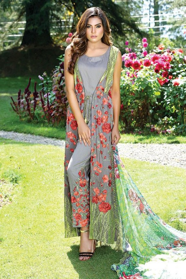 Embroidered Linen Party Dress by motifz for fall