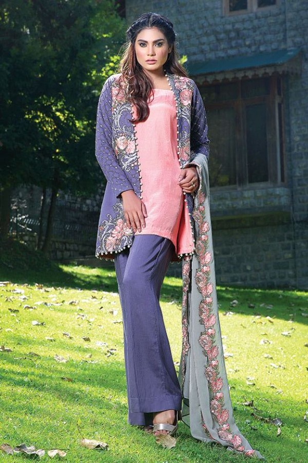 Motifz party wear short gown style dress for winters